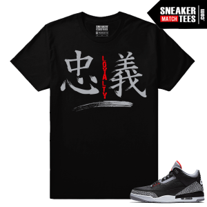 Jordan 3 Black Cement Sneaker tees Loyalty