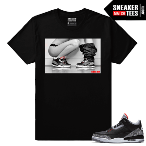 Jordan 3 Black Cement Sneaker tees Sneakerhead 3s