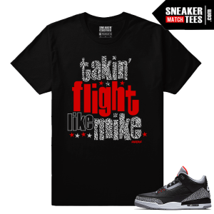 Jordan 3 Black Cement Sneaker tees Take Flight