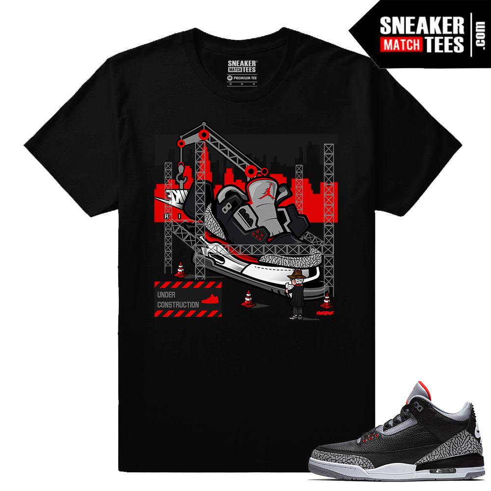 7f8161d298ce Jordan 3 Black Cement Sneaker tees Tinker Hatfield Architect