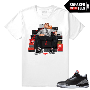Jordan 3 Black Cement Sneaker tees White Al Bundy Shoe Connect