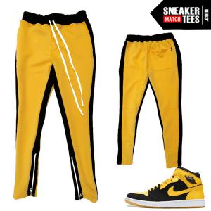 New Love 1s Stripe Track Pants Yellow Black