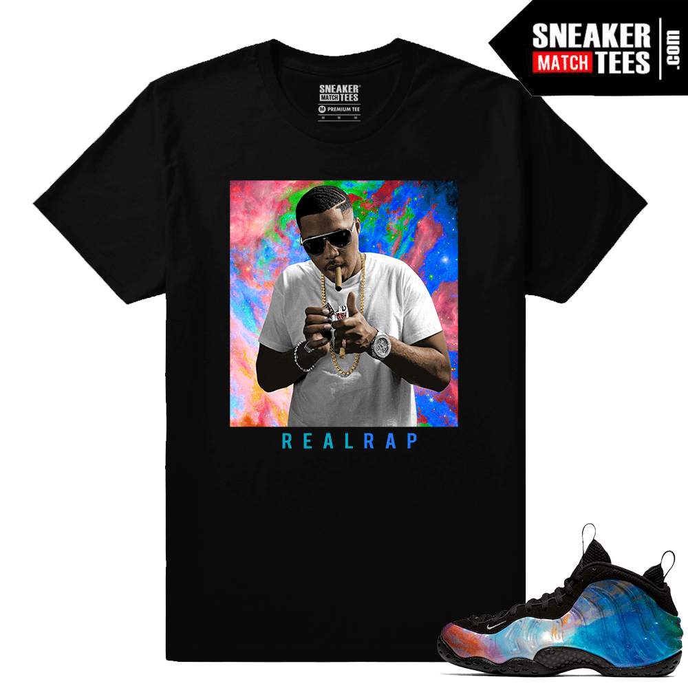 info for 81b67 ed529 Big Bang Foamposites Sneaker Match Tees Black Nas Real Rap