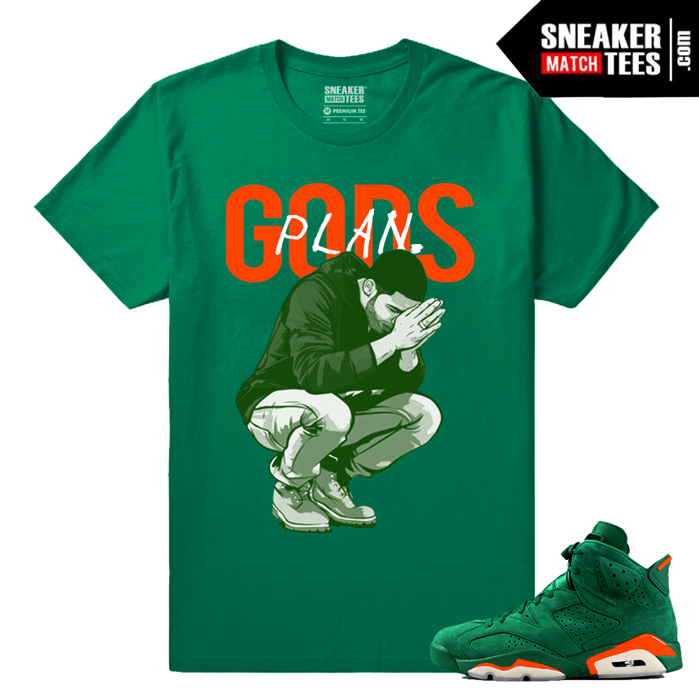 Gatorade 6s NRG Green Sneaker Match Tees Gods Plan