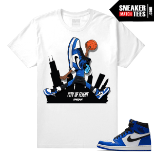 Jordan 1 Game Royal Sneaker Match Tees City of Flight Sneakerhead 1s