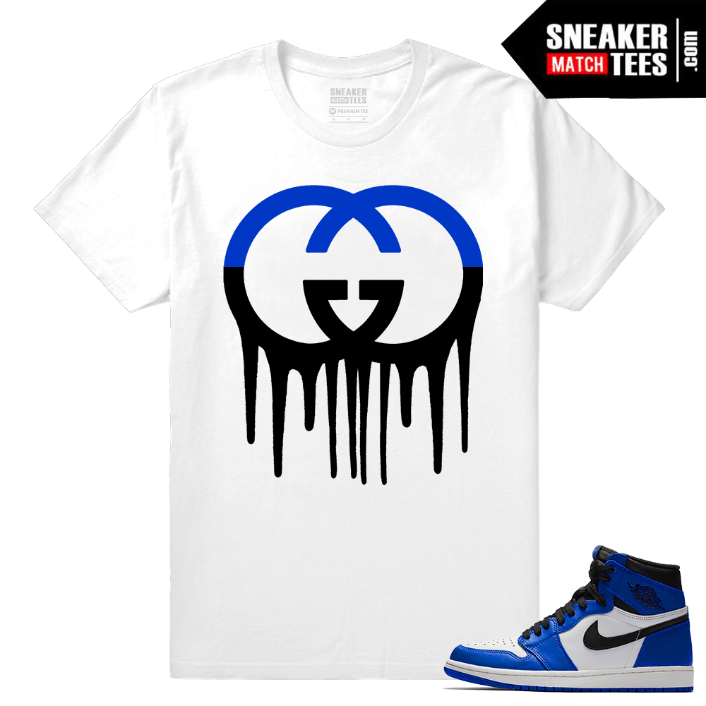Jordan 1 Game Royal Sneaker Match Tees Gucci Drip
