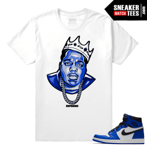 Jordan 1 Game Royal Sneaker Match Tees King Biggie