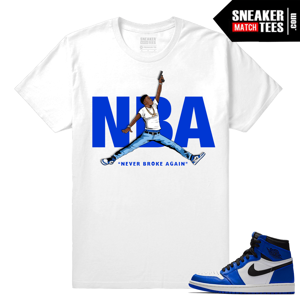 Jordan 1 Game Royal Sneaker Match Tees NBA YoungBoy