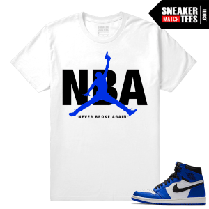 Jordan 1 Game Royal Sneaker Match Tees Never Broke Again