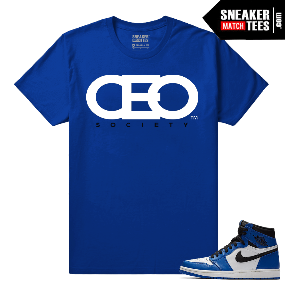 Jordan 1 Game Royal Sneaker Match Tees Royal CEO Society