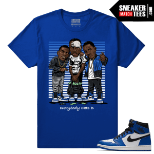 Jordan 1 Game Royal Sneaker Match Tees Royal Everybody eats B