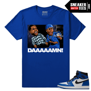 Jordan 1 Game Royal Sneaker Match Tees Royal Friday Daaaamn
