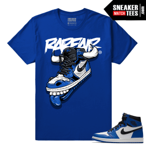 Jordan 1 Game Royal Sneaker Match Tees Royal Game Royal Fly Kicks