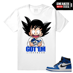 Jordan 1 Game Royal Sneaker Match Tees Royal Game White Got EM