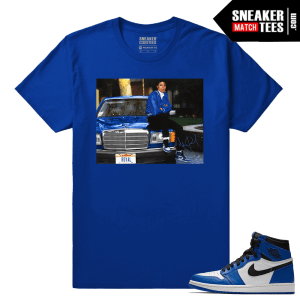 Jordan 1 Game Royal Sneaker Match Tees Royal MJ x Game Royal
