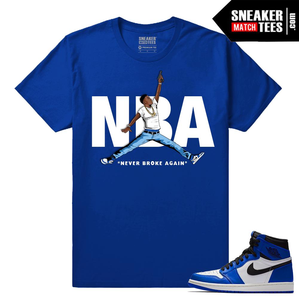 9a8684e64da738 Jordan 1 Game Royal Sneaker Match Tees Royal NBA YoungBoy