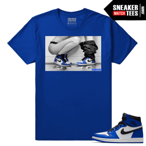 Jordan 1 Game Royal Sneaker Match Tees Royal Sneakerhead Royals