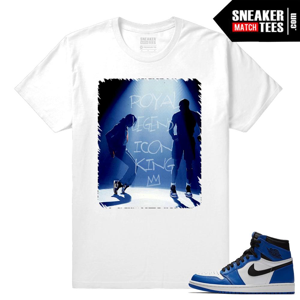 04870395da28 Jordan 1 Game Royal Sneaker Match Tees White In the Ones