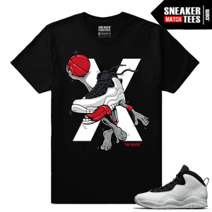 Jordan 10 Im Back Sneaker Match Tees Black Air 10s