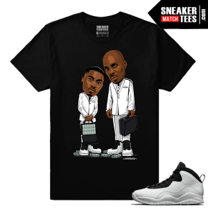 Jordan 10 Im Back Sneaker Match Tees Black Belly