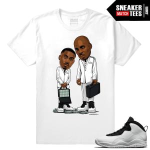 Jordan 10 Im Back Sneaker Match Tees White Belly