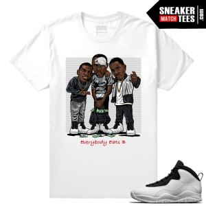 Jordan 10 Im Back Sneaker Match Tees White Everybody eats b