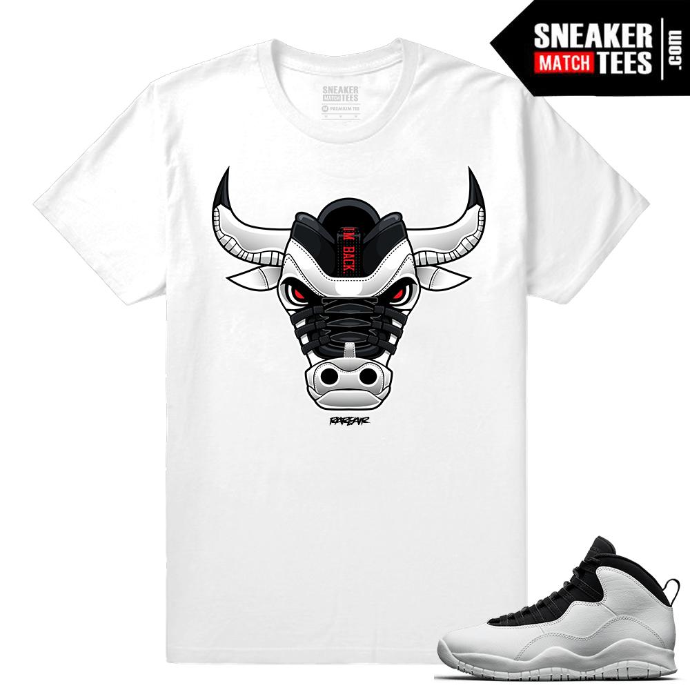huge discount 0688a da0d5 Jordan 10 Im Back Sneaker Match Tees White Im Back Bull