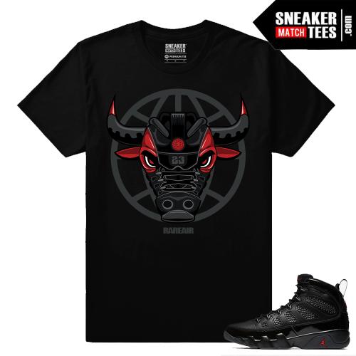 Jordan 9 Bred Sneaker Match Tees Black Rare Air Bull 9