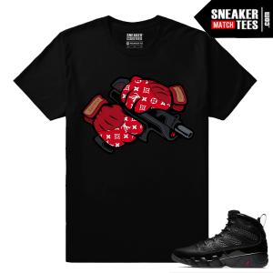 Jordan 9 Bred Sneaker Match Tees Designer Heat