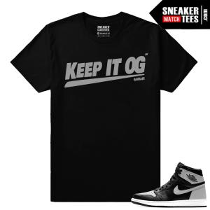 Air Jordan 1 Shadow matching Sneaker tee shirt