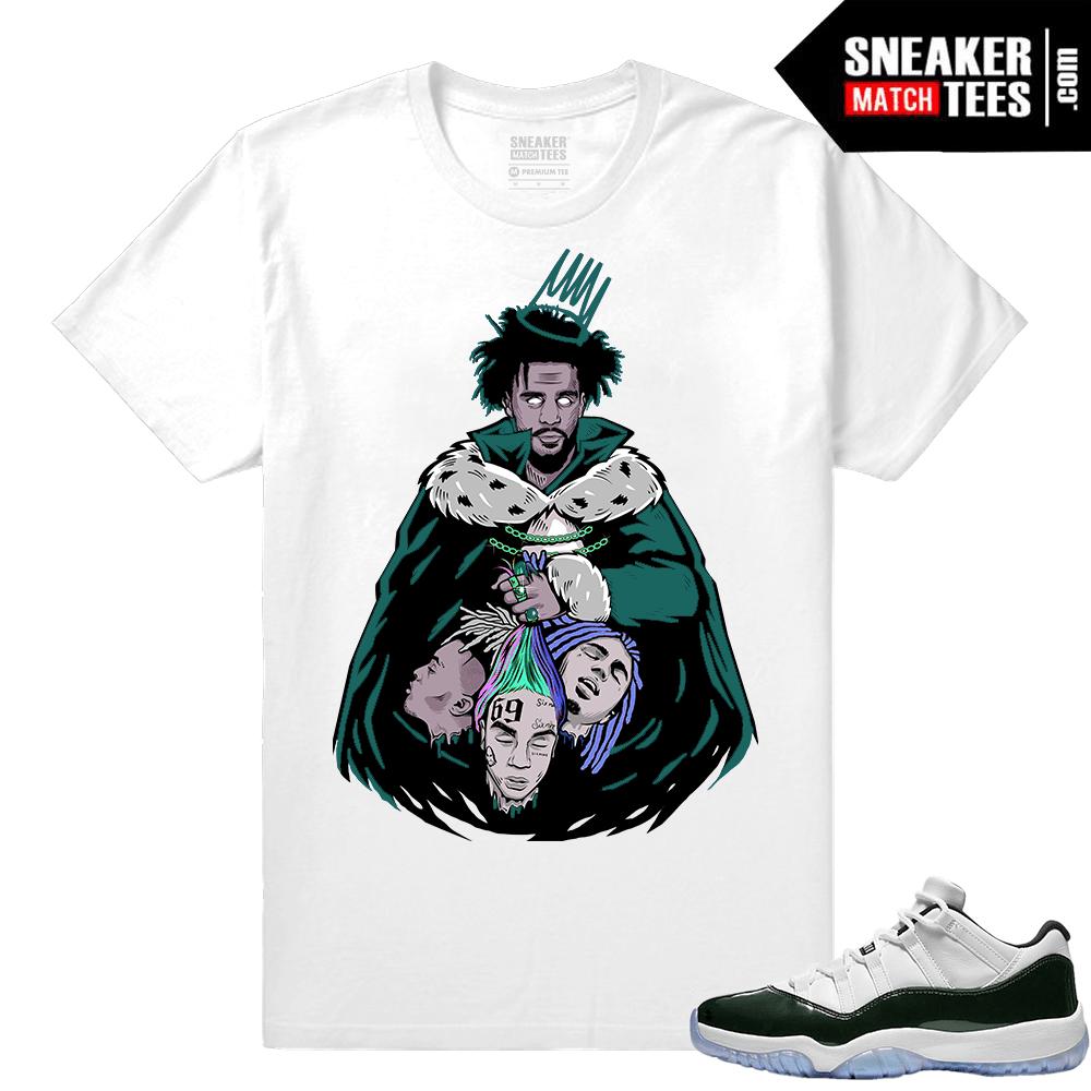 5d9858a03696 J cole KOD shirt - Sneaker Match Tees Jordan 11 Emerald