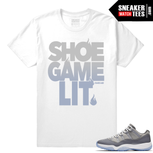 Jordan 11 low Cool Grey shirt
