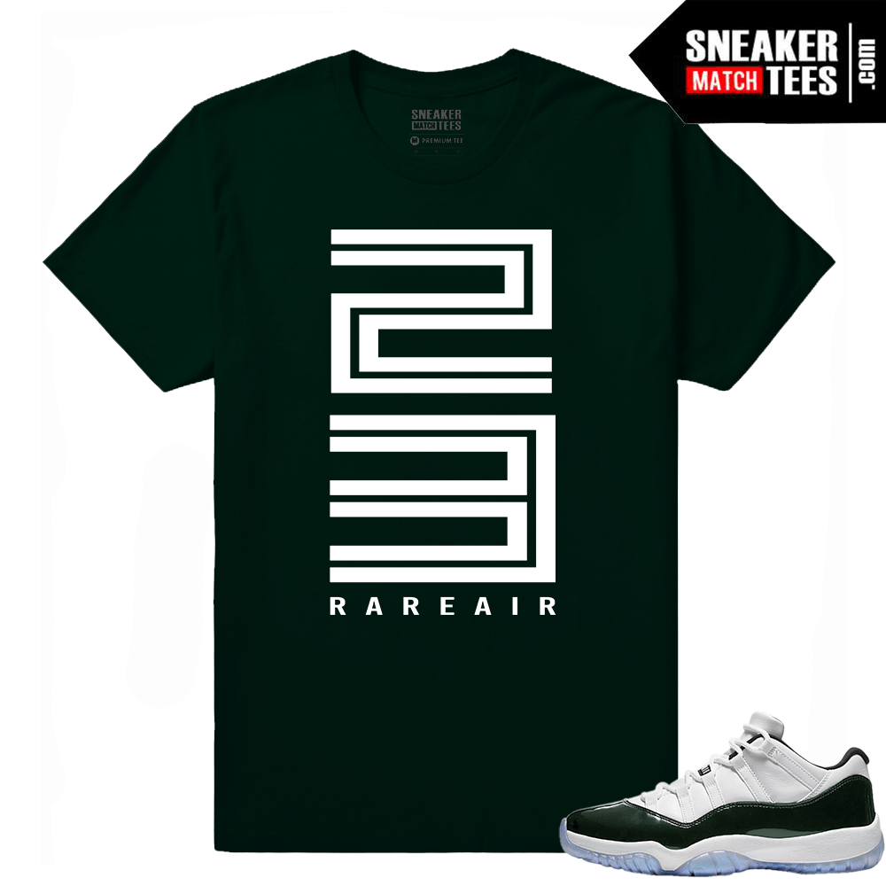 5470bbca8ff1 Emerald 11 Lows Sneaker Match Tees Streetwear Collection