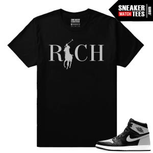 Sneaker shirt matching Jordan Retros Shadow 1s
