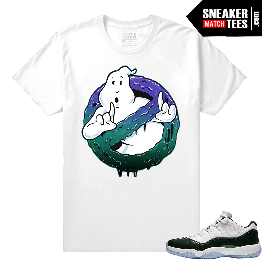 93e47144ca14de Sneaker tee shirt Jordan 11 Low Emerald Green Match