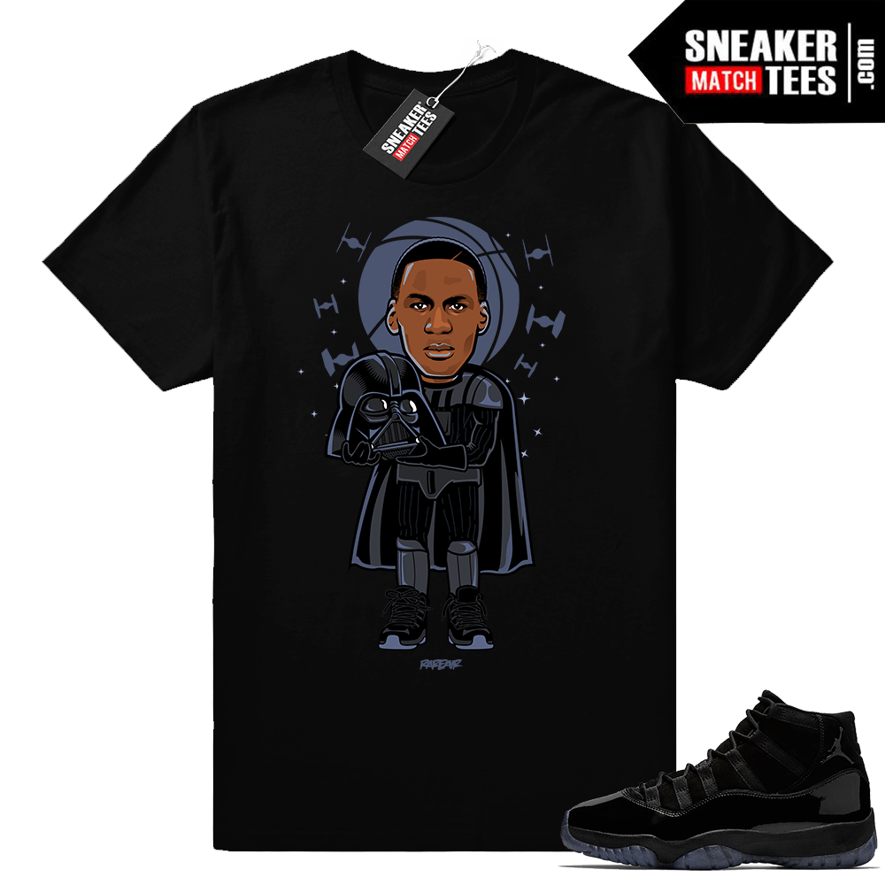 5b7e8af7f Air Jordan 11 Cap and Gown clothing • MJ x Vader • Black tee