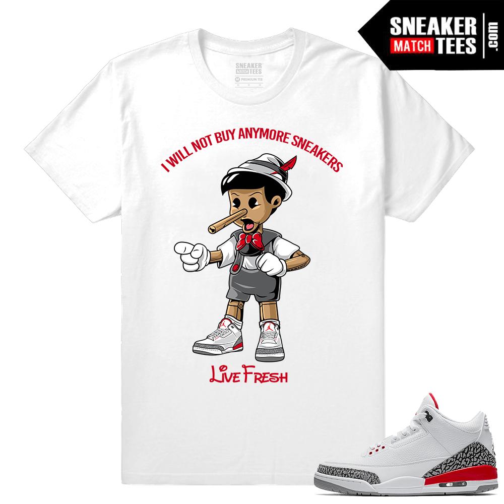 Air Jordan 3s Katrina Shirt • Sneakerhead Pinocchio •White tee