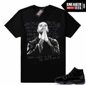 Gods plan Jordan 11 Cap and Gown Shirt