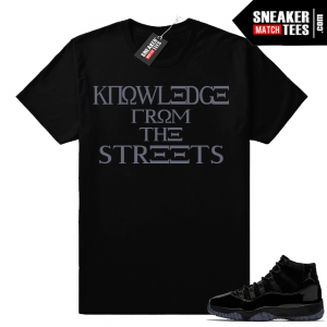 Jordan 11 Cap and Gown Knowledge shirt