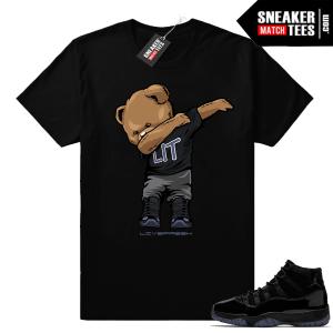 Jordan 11 Cap and Gown shirt outfits