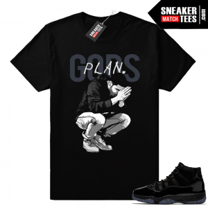 Jordan 11 Prom Night Gods Plan Shirt
