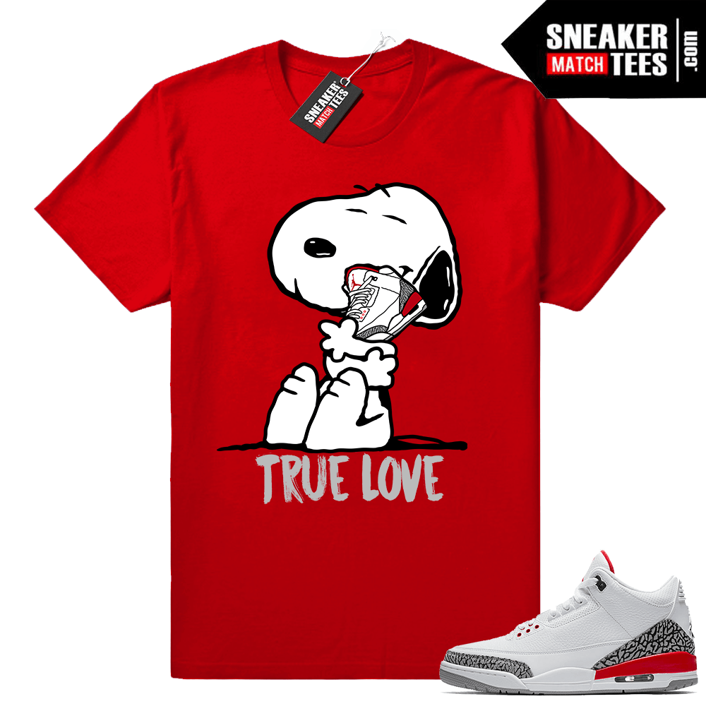 Katrina 3s Sneaker tees Clothing ? True Love ? Red tee