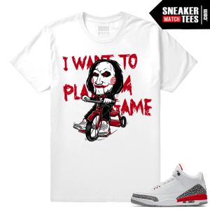 Katrina 3s shirt match Jordan Retro 3 shoes