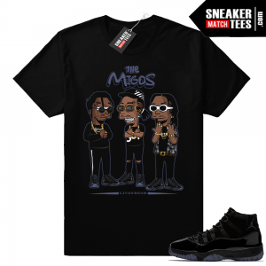 Migos Black shirt Cap and Gown 11