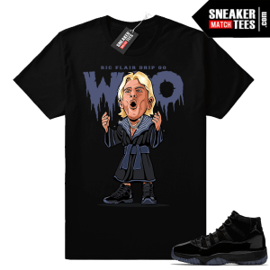 Ric Flair Drip Shirt Jordan 11 Cap and Gown