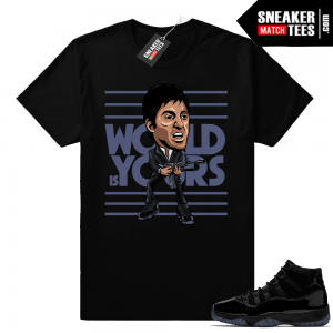 World is yours Scarface Shirt Cap and Gown 11s