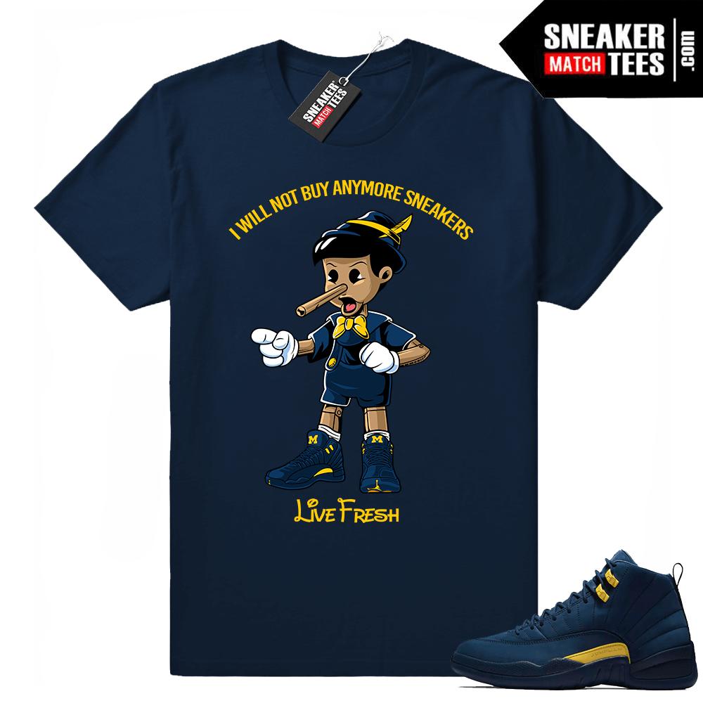 1acea769d050 Air Jordan 12 Michigan sneaker match tees release
