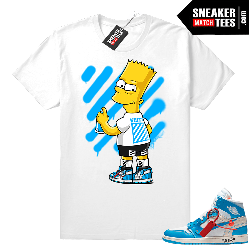 best sneakers 360ca 00587 Jordan 1 OFF white UNC Shirt
