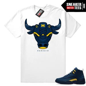 Jordan 12 Michigan shirt