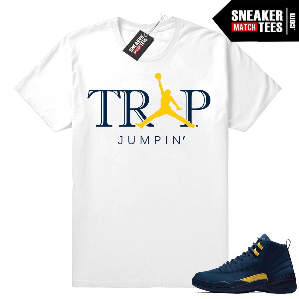 Jordan 12 shirt Michigan 12s